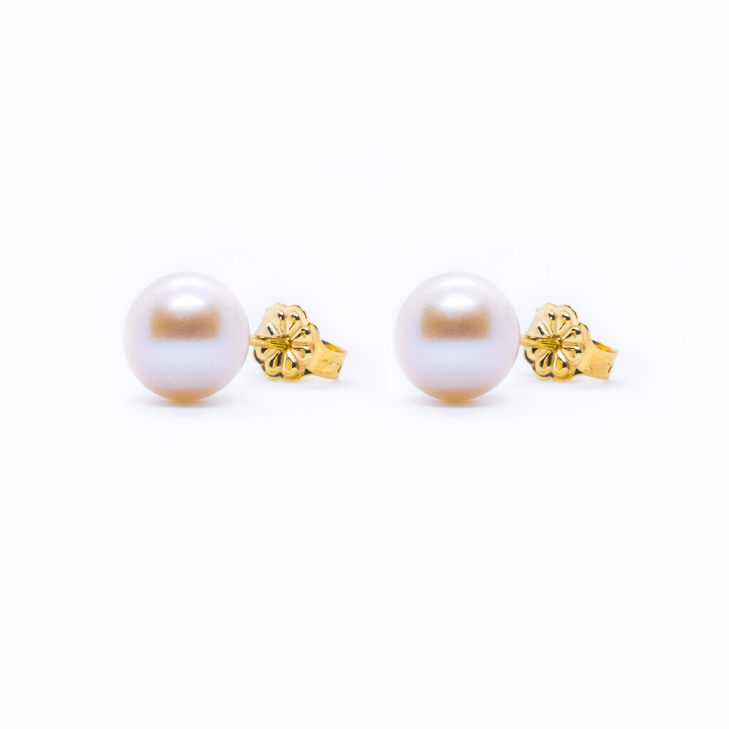 Χρυσά σκουλαρίκια με περλες μαργαριτάρια