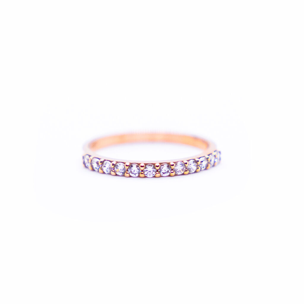 ETERNITY RING WITH ZIRCONS