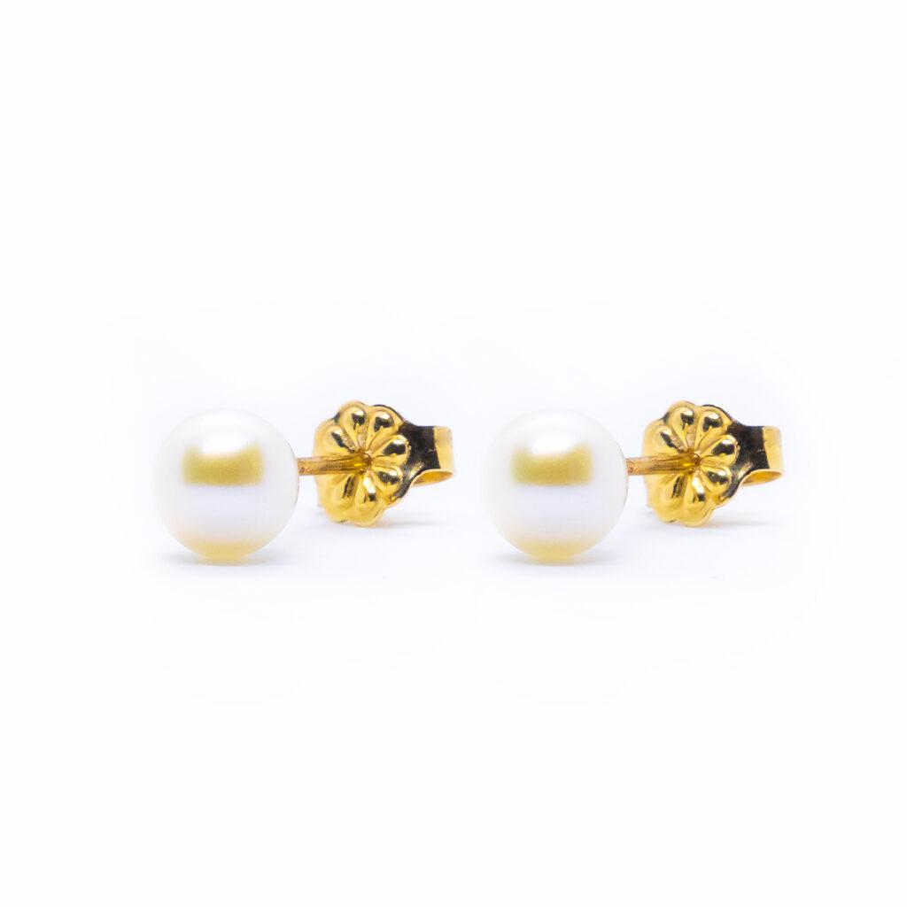 σκουλαρίκια χρυσα με μαργαριτάρια_πέρλες