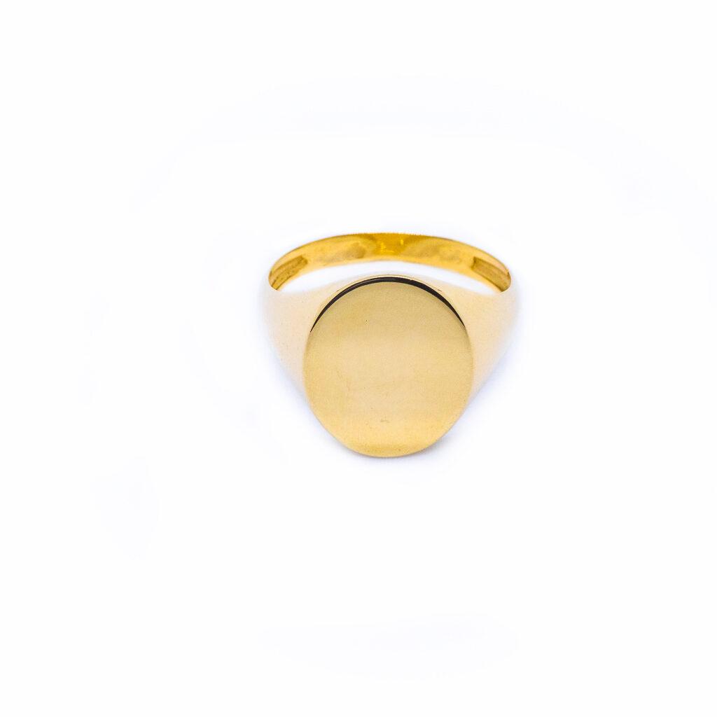 Xρυσό Δαχτυλίδι Σεβαλιέ Οβάλ