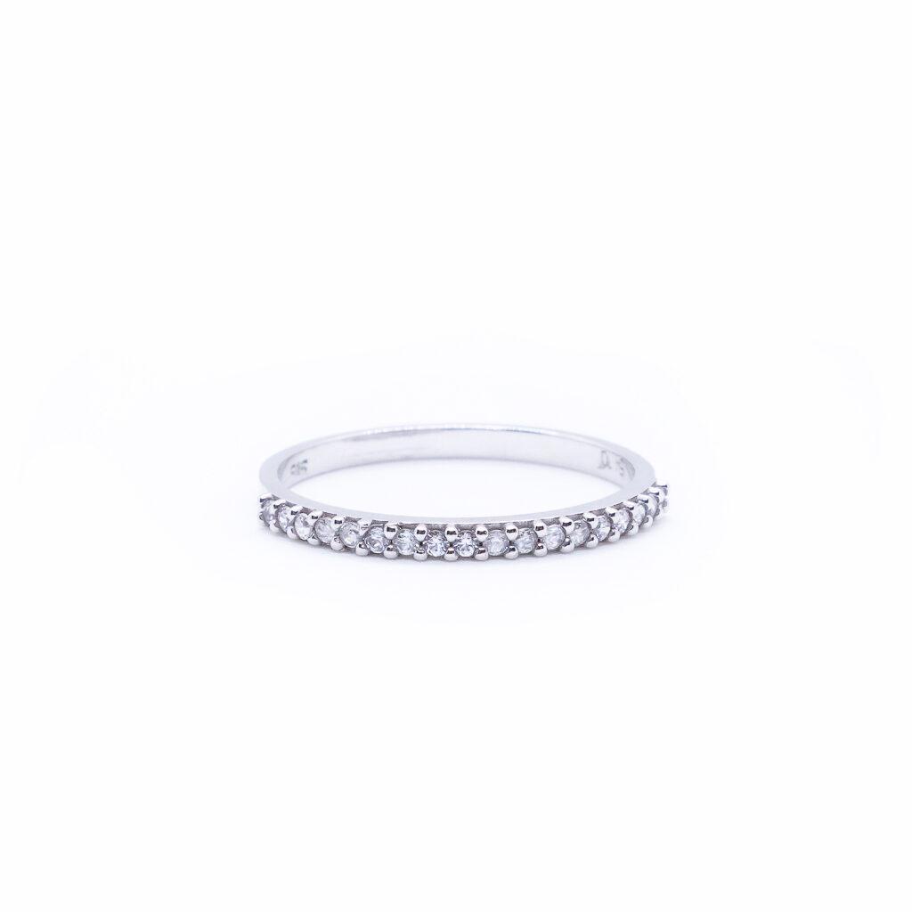 Λευκόχρυσο Σειρε δαχτυλίδι με ζιργκόν