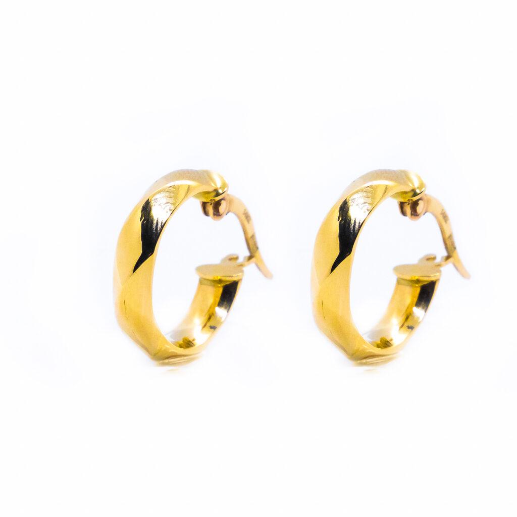 Χρυσά σκουλαρίκια κρίκοι μοντερνοι