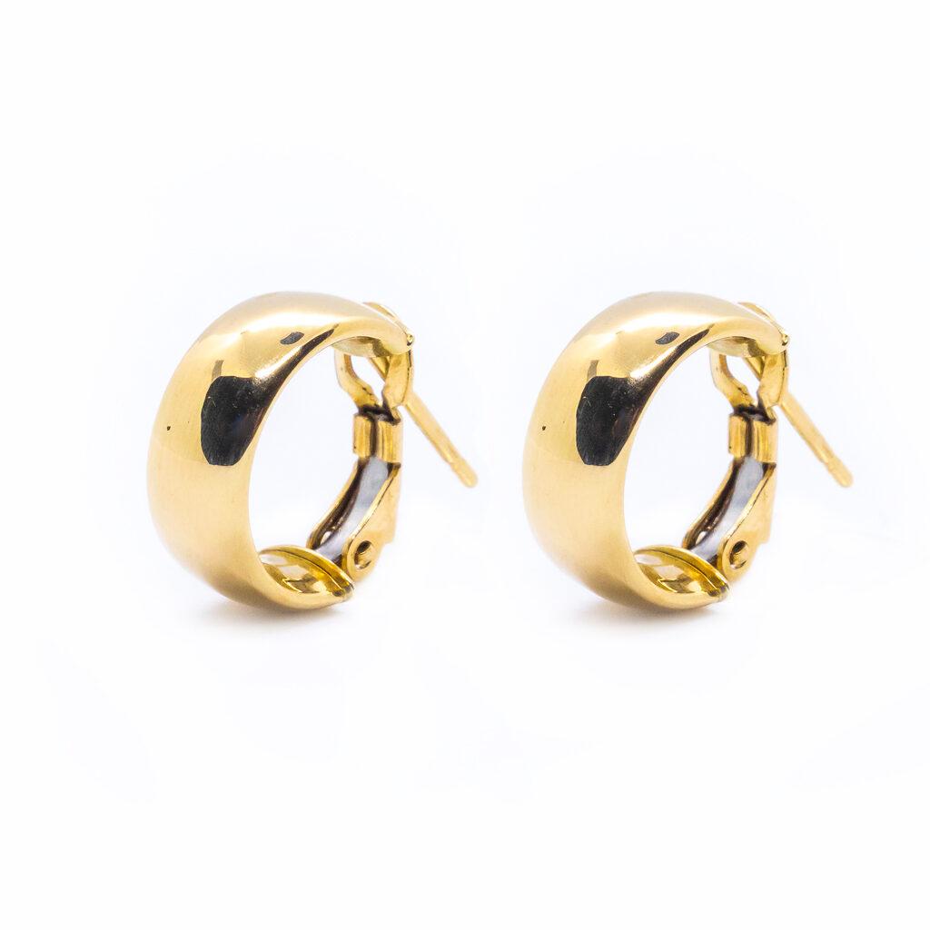 Χρυσά σκουλαρίκια κρικάκια φαρδιά