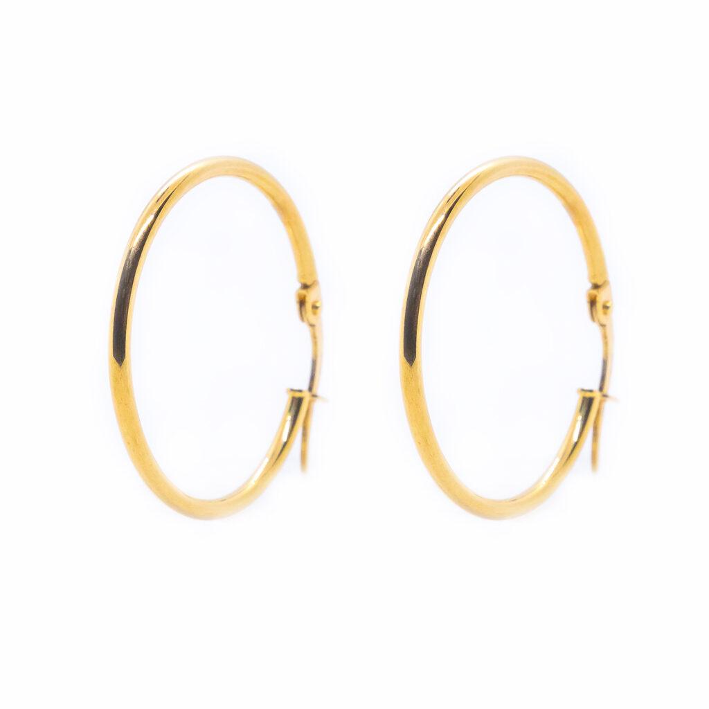 Χρυσοί κρίκοι σκουλαρίκια μεγάλοι λεπτοί