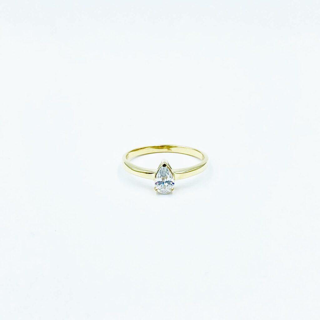 Χρσυό Δαχτυλίδι Δάκρυ