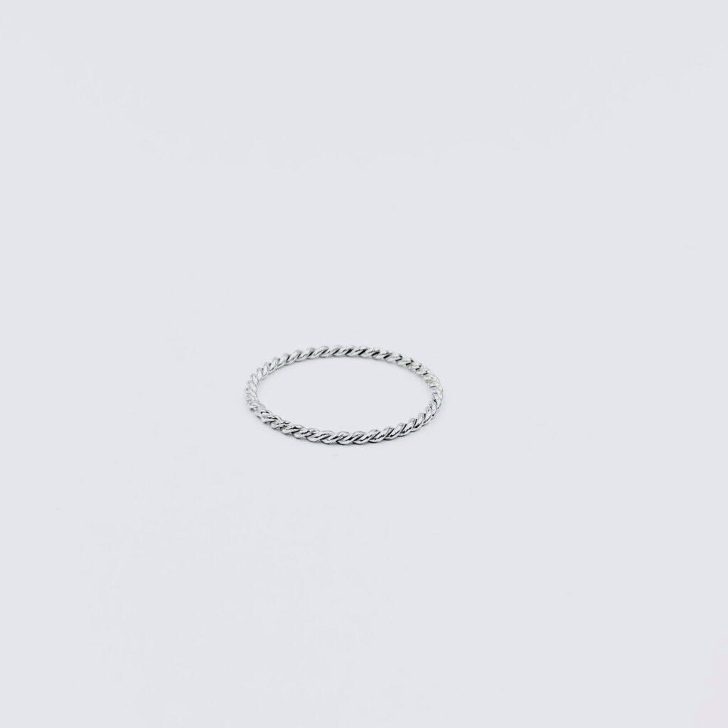 Λευκόχρυσο Δαχτυλίδι Στριφταρακι