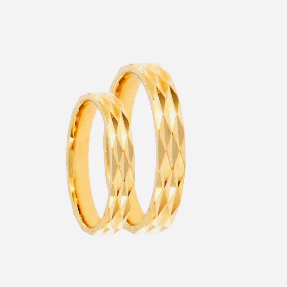 Μοντέρνες Χρυσές Βέρες Γάμου