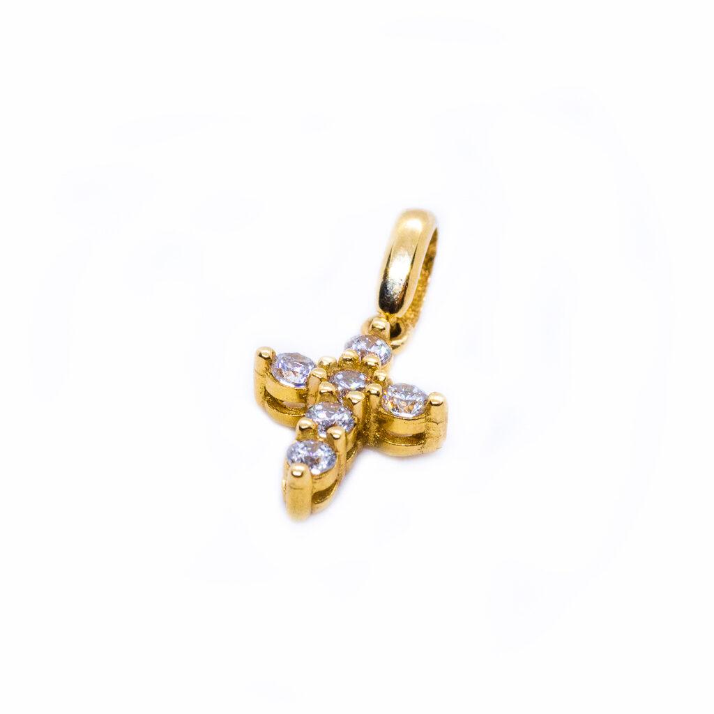 χρυσό σταυρουδακι μικρο