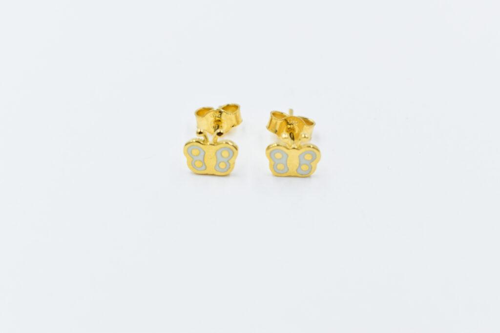 παιδικά σκουλαρικάκια πεταλουδιτσες